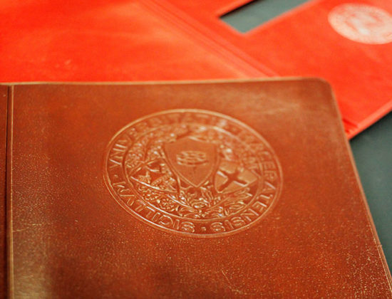 student's record book wallet